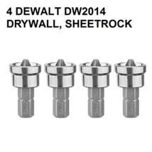 4 DEWALT DW2014 STAMPED DRYWALL,SHEETROCK SCREW SETTER DIMPLER DRILL BIT... - $14.99