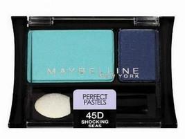 Maybelline Eye Shadow Duo Shocking Seas Expert Wear, blue full size 45D ... - $8.49