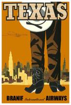 Vintage Decoration & Design TRAVEL Poster.TEXAS Cowboy Boots.Art Decor.448 - $9.90+