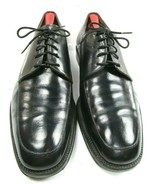 Brooks Brothers Mens Black Leather Apron Toe Oxford Shoes Size US 11 1/2 Italy - $34.05