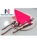 Al-Nurayn Stainless Steel Copper Flatware Set With Knife, Spoon And Fork - $49.00