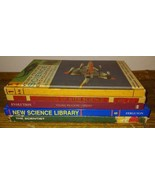 5 Vtg Science Books Hc Textbooks The Scientist New Science Library ex-lib - $9.90