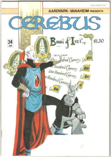 Cerebus the Aardvark Comic Book #34 AV 1982 VERY GOOD+