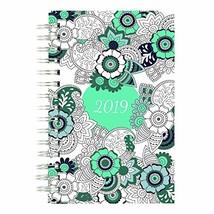 Blueline 2019 DoodlePlan Coloring Weekly/Monthly Planner, Botanica Desig... - $12.18