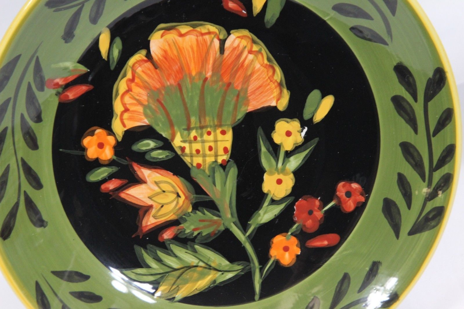 222 Fifth Arabian Flower Dinner and Salad Plates Lot of 11 Hand Painted image 9