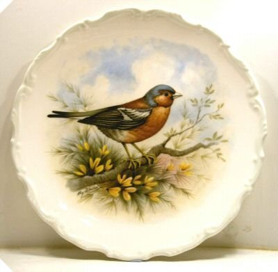 1982 Royal Albert plate Chaffinch Reg Johnson