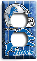 Detroit Lions Football Duplex Outlet Wall Plate Cover Man Cave Boys Room Decor - $8.99