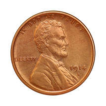 1914 S Lincoln Wheat Cent - Gem BU / MS / UNC - $327.00