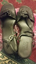 A2 by aerosoles black sandals w/straps- 8.5 size;minor defects due to st... - $20.00
