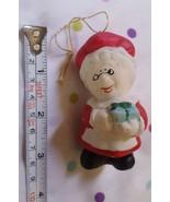 Ceramic Ornament Mrs. Santa Christmas Xmas tree holiday decoration pre-o... - $9.86