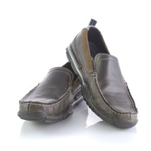 Skechers Relaxed Fit Memory Foam Loafers Charcoal Gray Slip On Shoes Men... - $29.53