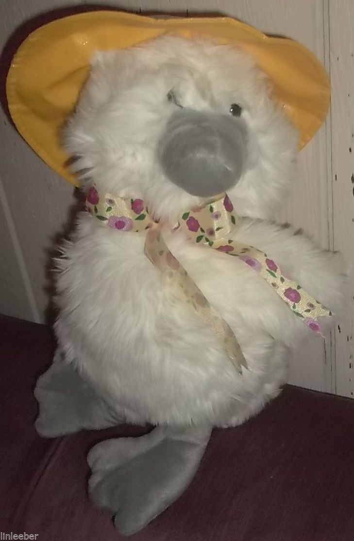 """The Ugly Duckling Plush Duck Stuffed Toy;New W/Tags~Squeeze Wing;16"""";Commonwealt"""