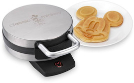 Disney DCM-1 Classic Mickey Waffle Maker, Brushed Stainless Steel - €44,28 EUR