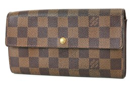 Auth LOUIS VUITTON Sarah Long Wallet Damier Ebene Zippered Coin Purse #3... - $259.00