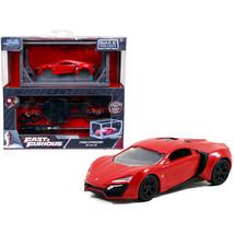 Model Kit Lykan Hypersport Red with Black Wheels Fast & Furious Movie Bui... - $24.22