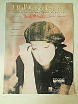 Sarah McLachlan Sheet Music I WILL REMEMBER YOU, Vintage 1995 Piano/Voca... - $8.86