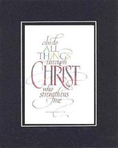 Inspiring (I Can Do All Things Through Christ . . . ) 8 x 10 Inches Fram... - $11.14