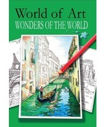 Relaxing Adult Colouring Books World of Art Wonders of The World - $6.45