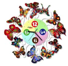 David Gerstein Spring Time Clock butterflies wall Clocks Laser Sublimati... - $350.00