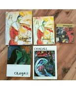 5 Vintage CHAGALL Books IN JERUSALEM, AT THE KNESSET, Etc... - $95.00