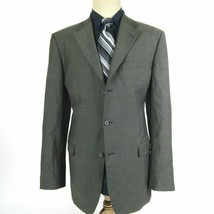 Emanuel Men's size 40L Classic Fit Olive Wool Blazer Sport Coat Jacket - $39.60