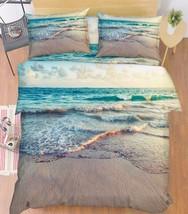 3D Sea Waves 017 Bed Pillowcases Quilt Duvet Cover Set Single Queen King Size AU - $90.04+