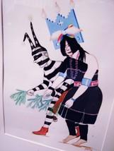 PERCY SANDY (KAI-SA) - ZUNI - ORIGINAL SIGNED & FRAMED WATERCOLOR  -PRIV... - $693.91