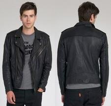 Mans black biker jacket, Mens leather jacket, black Leather jackets for ... - $159.99+