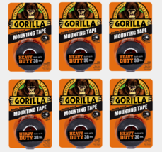 """6 ~ Gorilla Heavy Duty MOUNTING TAPE Double-Sided Black Holds 30 lbs 1"""" ... - $52.99"""
