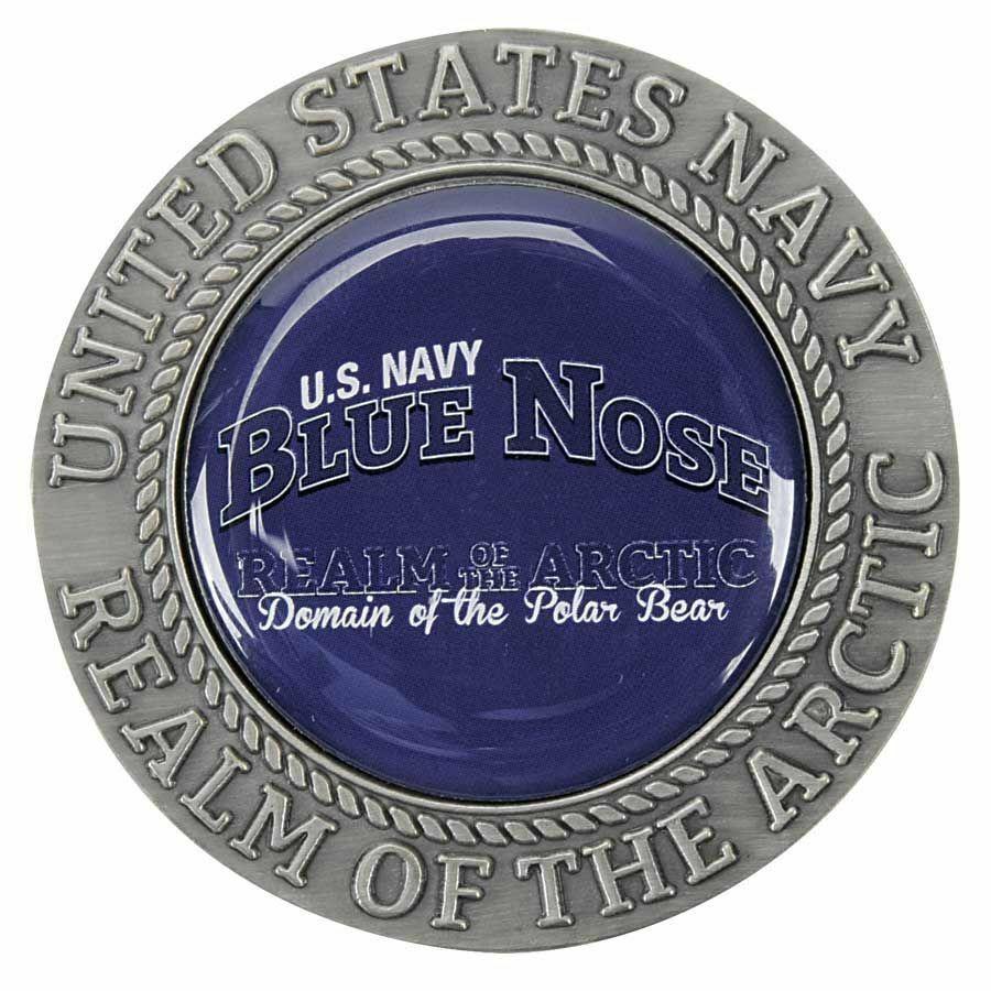 "NAVY BLUENOSE REALM OF THE ARCTIC CIRCLE POLAR BEAR 1.75"" CHALLENGE COIN"