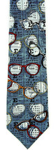 Optometrist Men's Neck Tie Ralph Marlin Eye Doctor Eyeglasses Silk Blue ... - $29.65
