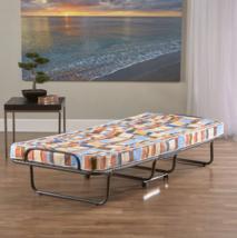 Roll Away Bed Folding Portable Twin Cot Foam Mattress Guest Kids Outdoor... - $181.97