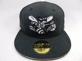 Charlotte Hornets New Era Size 7 1/4 Fitted 59Fifty Official NBA Cap Hat Gray