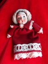 Vintage Victorian Porcelain Baby Doll Head Christmas Ornament - $6.76