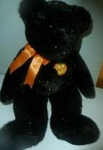 "Ty Beanie Buddy Haunt The Halloween Teddy Bear Plush Black Halloween Pumpkin 14"" - $12.82"