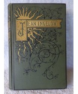 RARE c1894 Poetical Works of Jean Ingelow w/Photo of Author Gilt Decoration - $54.45