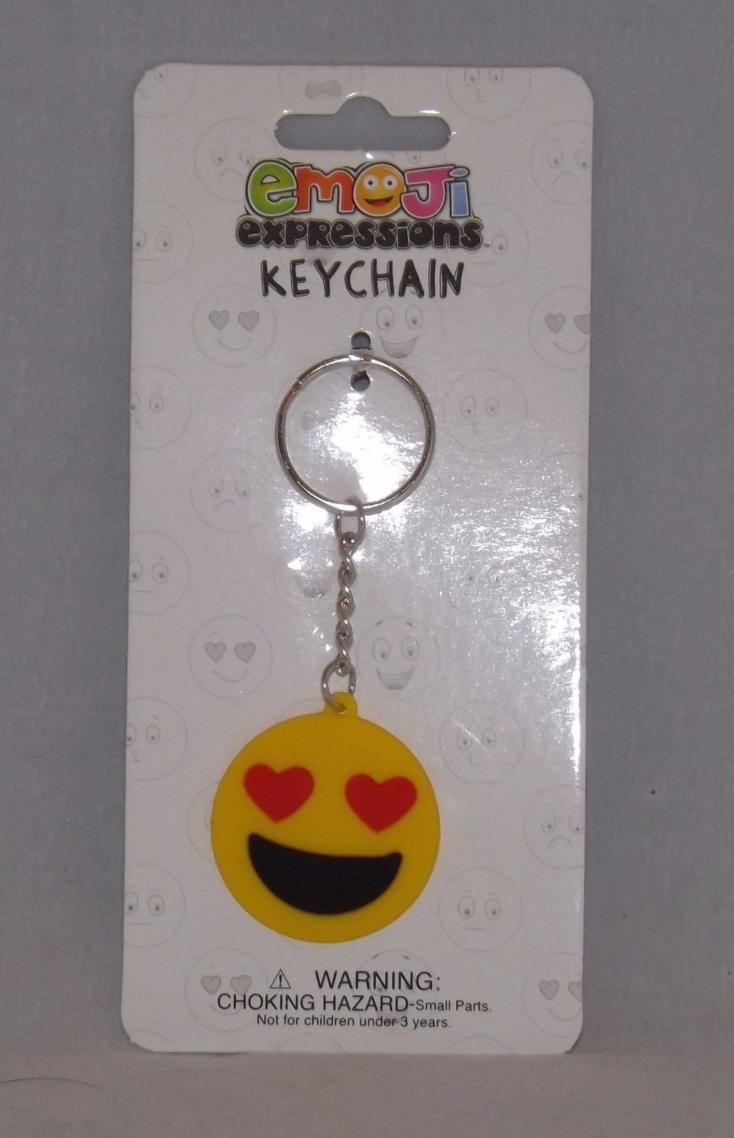 Almar Emoji Expressions Key Chain Ring  - New - Love Emoji