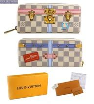 BRAND NEW Louis Vuitton Clemence Damier Summer Trunks White Canvas Wallet - $999.95
