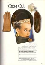 1987 Bloomingdales Mail Order Catalogue Gloves Shoes Hat Print Ad Vintag... - $7.92