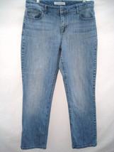 Chico's Platinum Denim Blue Jeans 2 short  Misses 12 35/29 Lighter Wash - $21.77