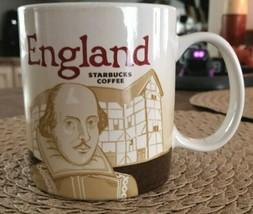 2013 STARBUCKS Coffee Cup Mug ENGLAND Global Icon Series 16 oz - $27.95