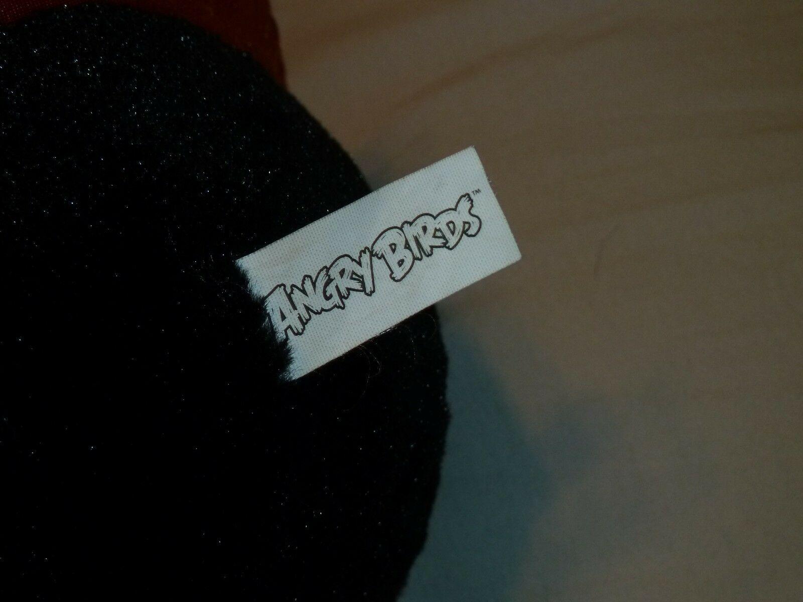"Commonwealth Angry Birds Black Space Bomb NO SOUND 7"" 14"" Plush 2012 EUC*"