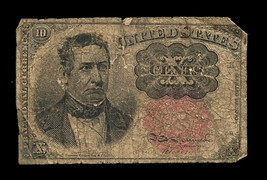 1874 10 Cent Fractional Currency Note, Series 1874 William Merideth Fift... - $28.04