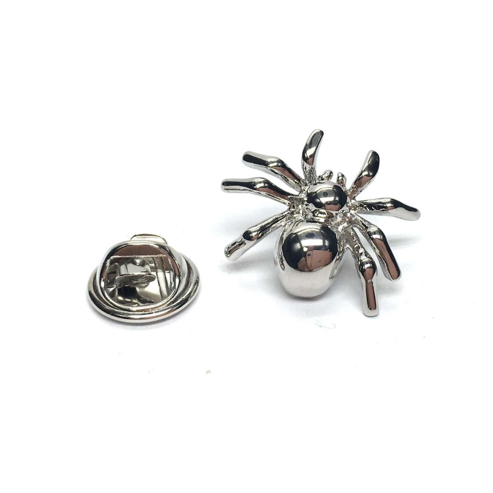 spider, silver, arachnid , lapel pin/ tie tac etc, comes in gift box