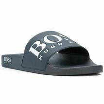 Hugo Boss Men's New W/Defect Rubber Slip On Beach Pool Slides Sandals 50388496 image 2