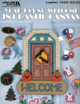 Year Round Welcome in Plastic Canvas Patterns Leisure Arts 1429 1992 - $7.91