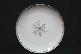 "Noritake China Lucille 5813 10-1/2"" Dinner Plate Gray Green Band Flowers... - $19.79"