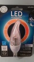 GE Lighting 89949 4 Watt Clear Bent Tip Energy Smart Bulb With Candelabra Base - $9.29