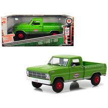 1967 Ford F-100 Pickup Truck Texaco Motor Oil Green Running on Empty Ser... - $37.09