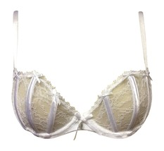Ex High Street Pure Lace Underwired Balcony Bra White 38DD - $9.24